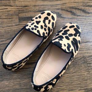Jcrew crewcuts leopard shoes sz 11 girls